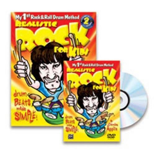 Alfred Realistic Rock for Kids (My 1st Rock & Roll Drum Method) Book CD and DVD