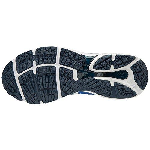 Mizuno Men's Wave Prodigy Running Shoes, Black bleu/blanc/bleu marine