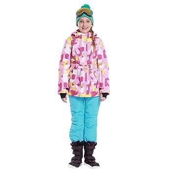 Chaqueta de esquí Infantil Chaqueta de esquí con Capucha y ...