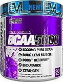 Evlution Nutrition BCAA5000 Powder 5 Grams of Premium BCAAs (Furious Grape, 30 Servings)