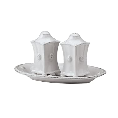 Juliska  Berry & Thread  Salt & Pepper Shakers, Whitewash