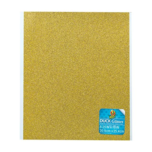 - Duck Brand Gold Glitter Adhesive Film Sheets 8.25-inches by 10-inches Set of 6