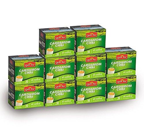 - QuikTea Chai Latte, Cardamom, 100 Count, 2400 Gram