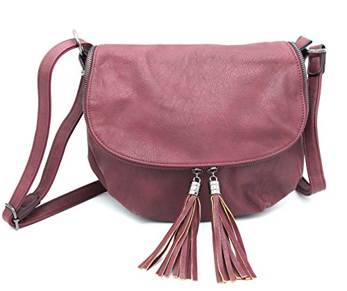 M Bordeaux amp; Donna Vogue Borsa Mode Rosso Hello Tracolla By Bag A qvvPO