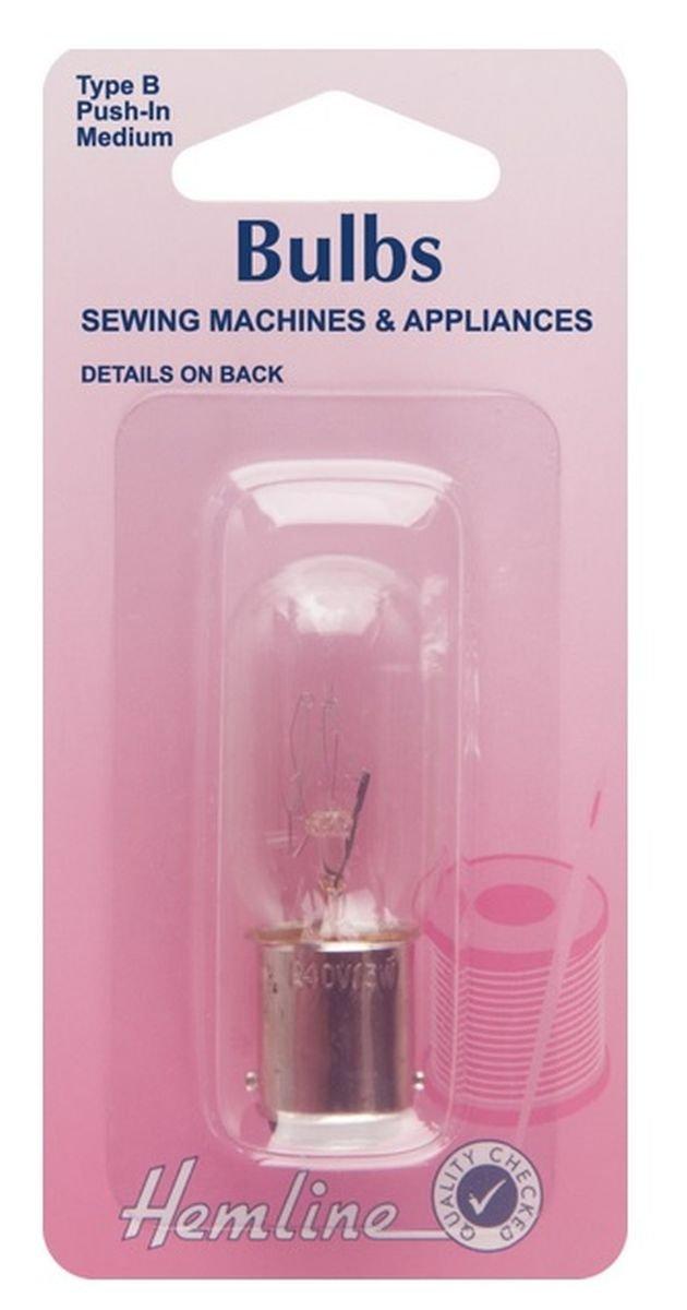 Bombilla para máquina de coser dobladillo Empujar (Bayoneta) Mediana 15w 240v: Amazon.es: Hogar
