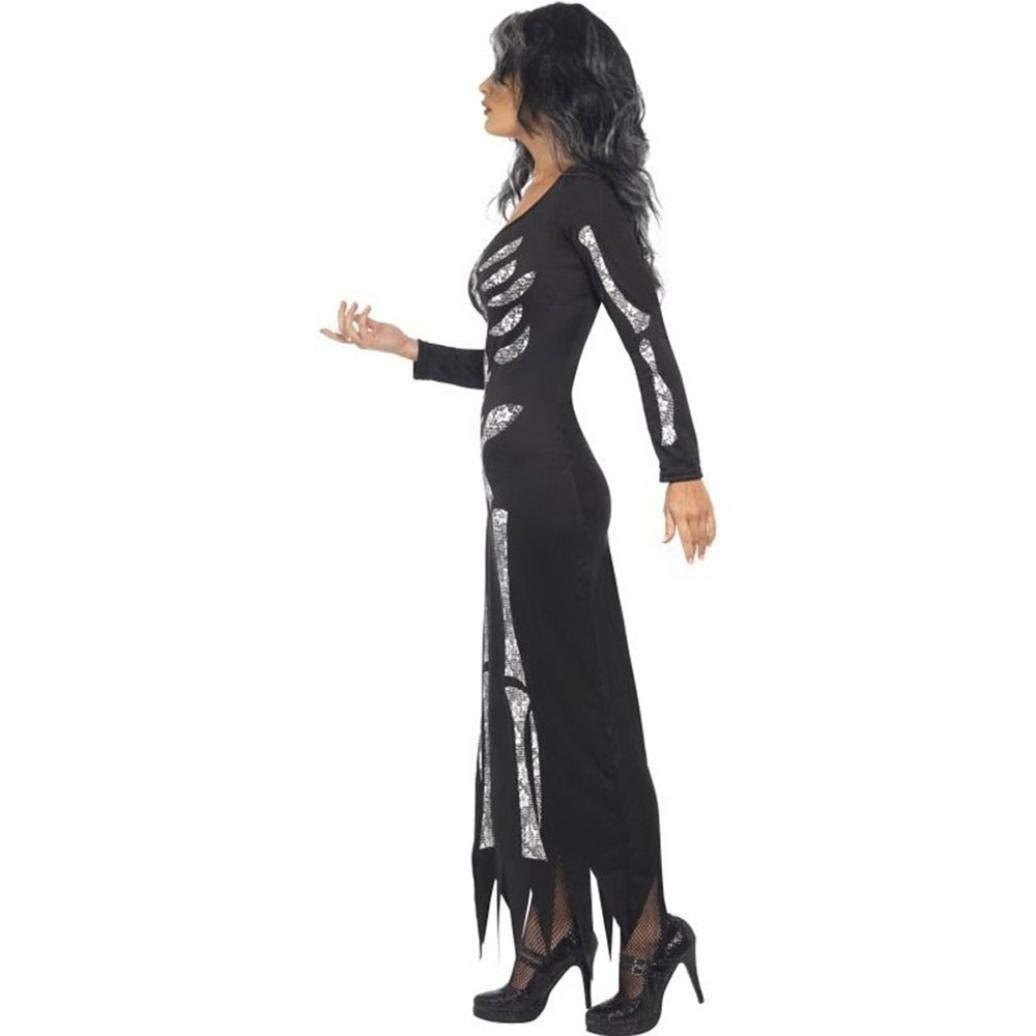 OverDose mujer De Halloween Fantasma Festival Horror Esqueleto Borla Novedad Disfraz Fiesta Vestido Largo: Amazon.es: Ropa y accesorios