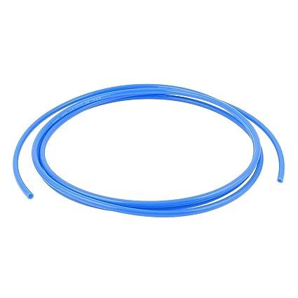 sourcingmap® 6 mm x 4 mm neumático del compresor de aire Tubo PU Tubo Manguera