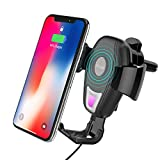 Wireless Car Mount Charger, OCUBE Air Vent Phone Car Holder with Qi Standard Wireless Charging for iPhone X/iPhone 8/8 plus/Samsung Galaxy S8/S8 Plus/S7 Edge/S6 Edge & Other Qi Enabled Devices (Black)