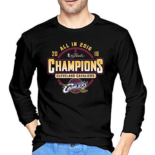 Men's Cleveland Cavaliers 2016 Finals Champions Roster Logo Long Sleeves T-shirts