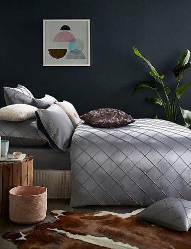benbuモダン寝具セット高級寝具クイーンキングサイズベッドクロスシルバーグレー色 クイーン 8137981694620 B01LYB0V58  クイーン