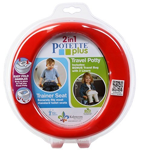 Kalencom Potette Plus Potty and Trainer Seat, Blue/Red 2730-G