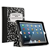 iPad 2/3/4 Case [Corner Protection] - RUBAN [Scratch-Resistant] and High-grade PU Leather Folio Stand Smart Cover, Auto Wake/Sleep for Apple iPad 2th/3th/4th Gen with Retina Display, Notebook Black