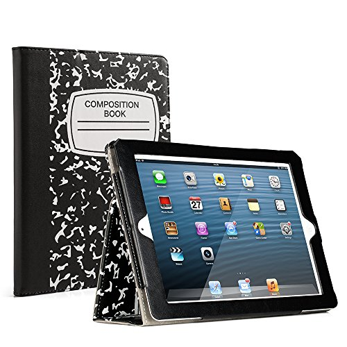 RUBAN iPad 2/3/4 Case Release[Corner Protection]-[Scratch-Resistant]and High-grade PU Leather Folio Stand Smart Cover, Auto Wake/Sleep for Apple iPad 2th/3th/4th Gen with Retina Display,Notebook Black