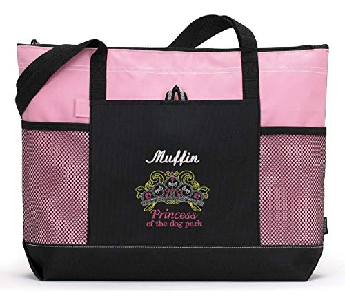 Princess of the Dog Park Personalized Embroidered Tote