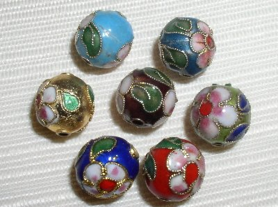 100 10mm Handmade Mix Cloisonne Beads By BriannaBeads