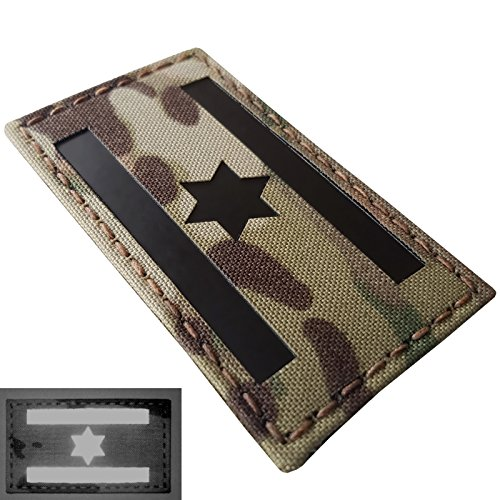 Multicam Infrared IR Israel Flag IDF Star David 3.5x2 IFF Tactical Morale Fastener Patch