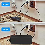 Cable Management Box Hide Wires and Surge Protector Box, Wire Organizer for Home and Office, Cable Box- Cable Organizer Box - Cord Box - Cable Hider Box - Power Strip Box - Computer Cable Management