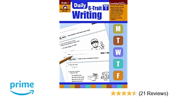Daily 6 trait writing grade 1 daily practice books evan moor daily 6 trait writing grade 1 daily practice books evan moor 9781596732865 amazon books fandeluxe Choice Image