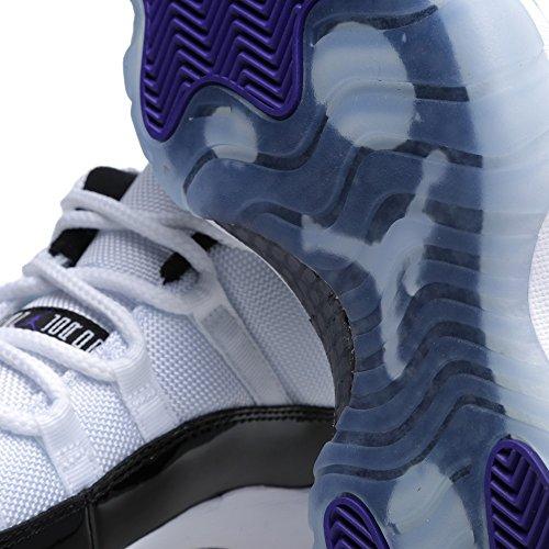 Nike Air Jordan 11 Retro Low, Zapatillas de Baloncesto para Hombre white/black-dark concord