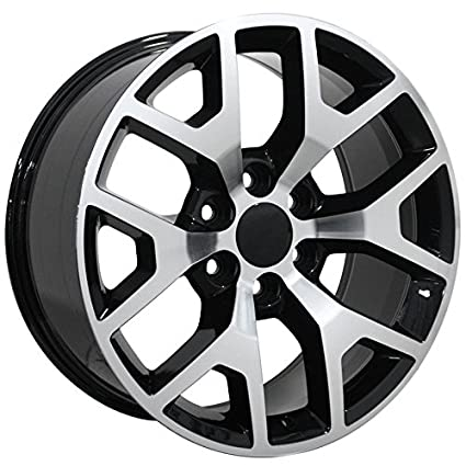 Amazon Com Black Wheel 22x9 Snowflake Style W Machined Face For