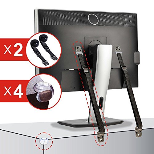 TV and Furniture Anti-Tip Straps, Baby Safety & Childproofing Anchor  Kit for Flatscreens/LCD TVs, Baby Furniture, Adjustable w/ 300KG Capacity Security, Mounting Hardware Included, +4 Corner Guards (Patio Umbrella Parts Repair)