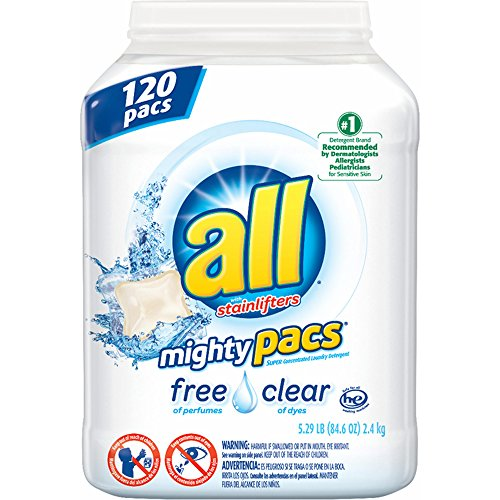 All Free&Clear Mighty pacs 104 ct (pack of 6) by All Free&Clear