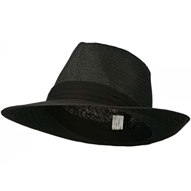 66cd8a01c1a7df Jeanne Simmons Men's Large Brim Fedora Hat at Amazon Men's Clothing ...