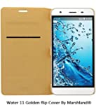 Lyf Water 11 Flip Cover - High Quality Flip Cover Superior Finish Durable Protection Special Designer Case Made This Case is 100% Compatible with your Regular Charger and Headphones Fits perfectly on your Phone - Golden