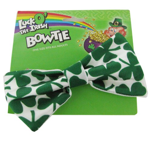 Patty O'green Costume (Rubie's 10 Pack Unisex Luck O The Irish Bow Tie Costume Accessory, White/Green)