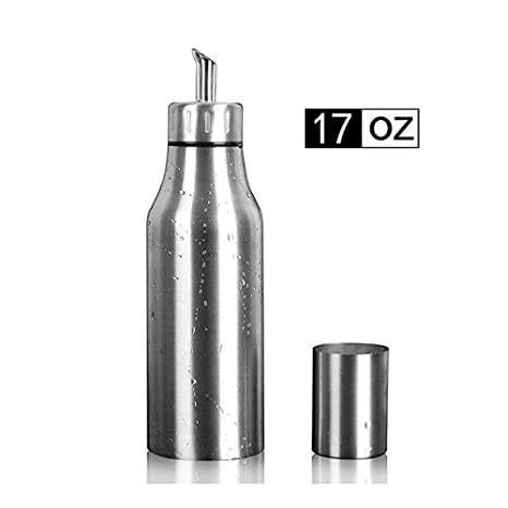 f2ce7d60cc37 PER-HOME Stainless Steel Olive Oil Dispenser Leakproof Kitchen Oil Bottle