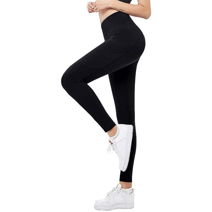 Amazon.com: Bulouin - Leggings de yoga para mujer, cintura ...