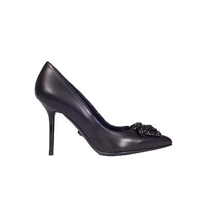 Versace Femme Dsl963ndvt5pd41 Noir Cuir Escarpins  Amazon.fr ... 3bc89853567