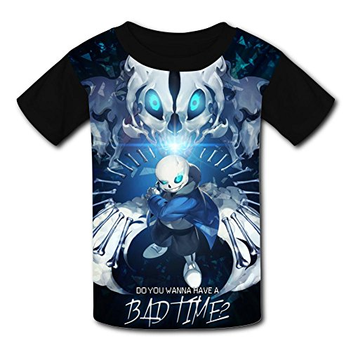 Bad_Sans_Time Youth Tees Shirts 3D Print Kids T-shirts (Youth Time Big T-shirt)