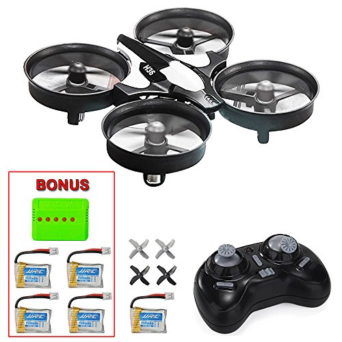 Mysterystone H36 Mini Rc Quadcopter Drone With 5 Battery And 5 In 1 Charger  Nano Drone Rtf 2 4G 4Ch 6 Axis With Headless Mode One Key Return  Mode 2 Remote Control Ufo Drone For Kids  Black