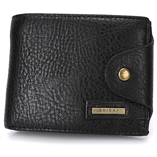 pelle in nera For New Pack Card Wallet Durable robusta Portafoglio corto Men Sz8PqaWOw