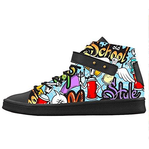Le Graffiti Custom Shoes Canvas Scarpe Scarpe Women's Igxnz