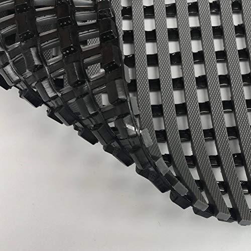HYSA MAT Commerical PVC Drainage Mat, 58cmx90cm, Heavy Duty Anti Fatigue Door Floor Mats Drain Tiles for Home Kitchen Indoor Outdoor Wet Area - Gray