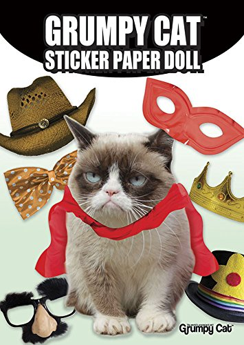 Grumpy Cat Sticker Paper Doll