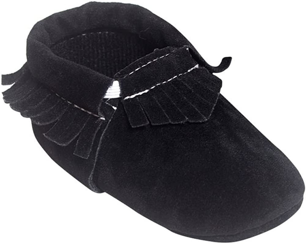 Infant Baby Soft Sole Crib Suede//Leather Shoes Boy Girl Toddler Moccasin 0-18M