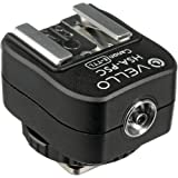 Vello Hot Shoe Adapter with PC Socket + Top Shoe - for Canon (E-TTL)