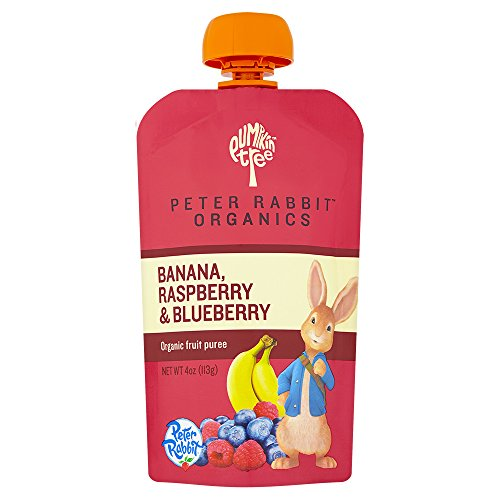 Peter Rabbit Organics Raspberry, Banana and Blueberry, 4.0-Ounce Pouches (Pack of 10)