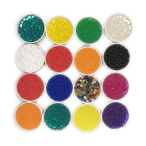 d95e5da22 HYMONA 320 Gram of 130,000 Water Beads 16 Colors Individual Bags Mix Beads  Crystal Soil Water