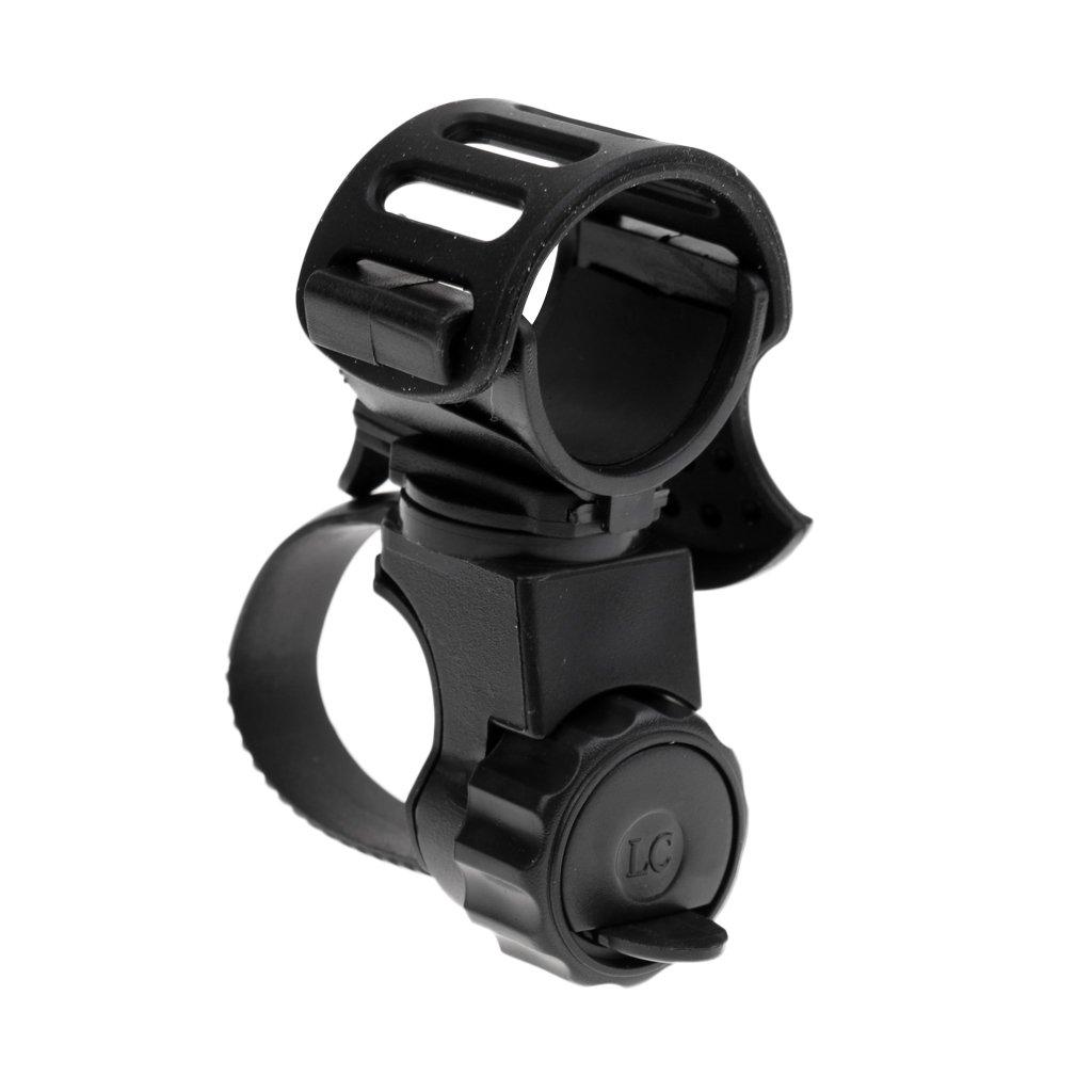 Gazechimp Soporte de Linterna de Bici Bicicleta Antorcha Abrazadera Girar 360 Grados de Pl/ástico Avanzado Durable