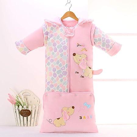 WTFYSYN Saco de Dormir Bebe Verano y 4 Estaciones Recien Nacido,Saco de Dormir de algodón con Manga extraíble para bebés y niños-Rosa A_145CM: Amazon.es: Hogar