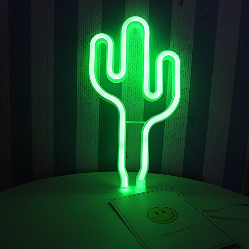 DELICORE LED Cactus Neon Light Sign Wall Decor Night Lights Home Decoration Party Supplies LED Decorative Lights