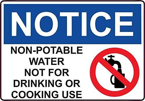 5in x 3.5in Non-Potable Water Decal Vinyl Decal Door Sign Sticker ()