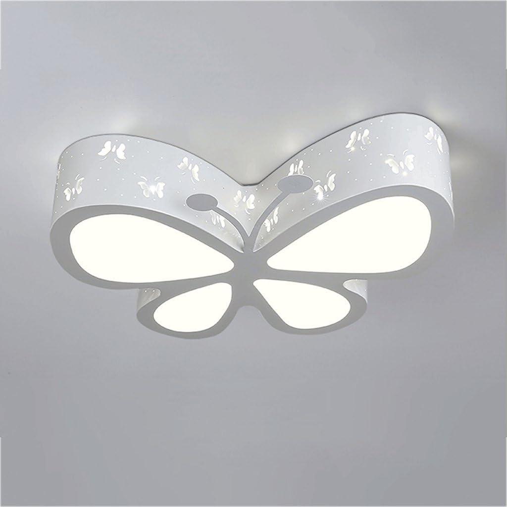PIAOLING Lámpara de techo LED moderna y simple, lámpara de techo con forma de mariposa, lámpara de techo personalizable, iluminación de estudio de la habitación de los niños, Blanco, Large