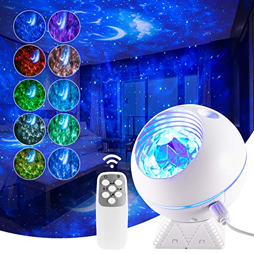 Star Galaxy Projector,Star Ocean Wave Sensory Kids Adults Bedroom Night Light Ceiling Lamp