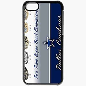 Personalized iPhone 5C Cell phone Case/Cover Skin 782 dallas cowboys 0 Black