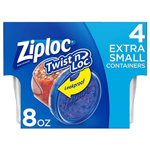 Ziploc Twist N Loc, Extra Small, 4 ct, 6 pack (Twist Lid Cup)